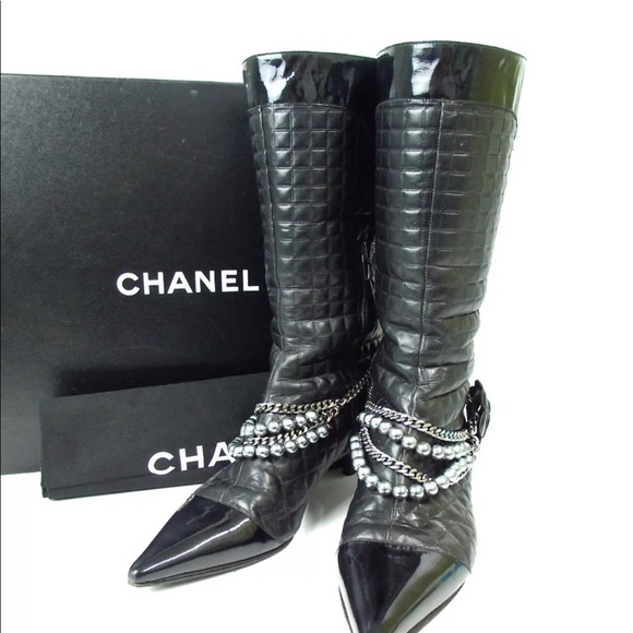 710a1aee4009 chanel Shoes | Quilted Pearl Charm Camellia Flower Boots | Poshmark